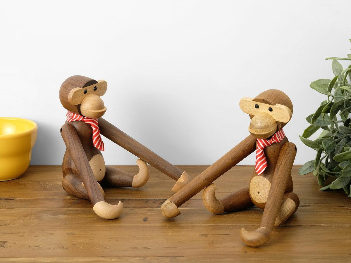 カイ・ボイスン モンキー(小) 全2色 チーク材 ウォールナット材 Kay Bojesen Monkey 木製玩具 オブジェ フィギュア 木のオブジェ インテリア 人形 猿 置物 北欧雑貨 リプロダクト 干支 縁起物 申年 母の日 ギフト 父の日 プレゼント