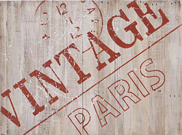 ウッドサインボード Art.06 VINTAGE PARIS リサイクルウッド アンティーク レトロ オブジェ カフェ アート 壁掛 ウォールデコ プレート ウェルカムボード パリ フランス アメリカン雑貨 インテリア カントリー雑貨 看板 木製
