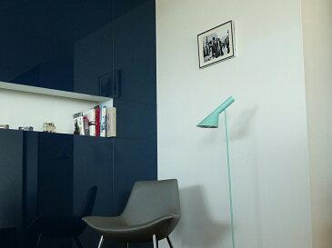 AJ フロアライト ライトブルー アルネ・ヤコブセン Arne Jacobsen デザイナーズ フロアランプ インテリア照明 ソファ リビング リプロダクト 間接照明 北欧 スタンドライト アルネヤコブセン スポットライト フロアスタンド