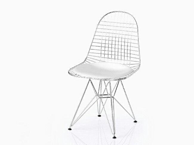 【完成品/組立済】イームズ シェルチェア DKR ワイヤーチェア シートパッド付(ホワイト) エッフェルベース Shell Chair ミッドセンチュリー デザイナーズ EAMES リプロダクト ダイニングチェア 椅子 05P26Apr14