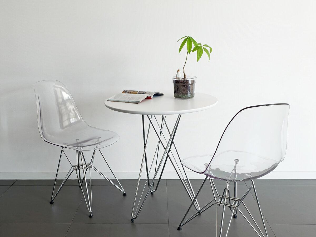 ワイヤーレッグテーブル ホワイト 68cm幅 ダイニングテーブル ラウンドテーブル 丸テーブル リビング サイドテーブル コーヒーテーブル