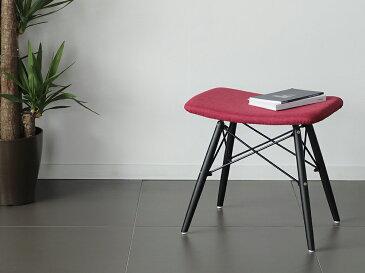 【完成品】Bennett(ベネット) ファブリックスツール 全4色 ブラックレッグ 北欧 ダイニングチェア 木製 無垢 イス 椅子 ウッド フットスツール 玄関スツール モダン あす楽対応