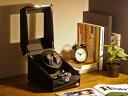 ワインディングマシーン 2本巻 ブラック × ブラック Abies(アビエス) 2連 ウォッチワインダー 腕時計 ワインディングマシン 2本 4本 時計 収納ケース メンズ レディース 自動巻き ウォッチケース ワインダー ギフト スタンド