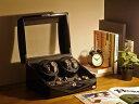ワインディングマシーン 4本巻 ブラック × ブラック Abies(アビエス) 4連 腕時計 プレゼント 2本 4本 3本 時計 収納ケース メンズ レディース ケース 自動巻き機 ワインディングマシン ウォッチケース 時計ケース ワインダー ギフト