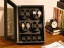 ワインディングマシーン 鏡面 1年保証 ワインディングマシン 腕時計 2本巻 ピアノブラック 黒 赤 ワイン 鍵 鍵付き 静音 ウォッチワインダー インテリア マブチモーター 1本 2本 腕時計 メンテナンス ケース 送料無料 202006SS