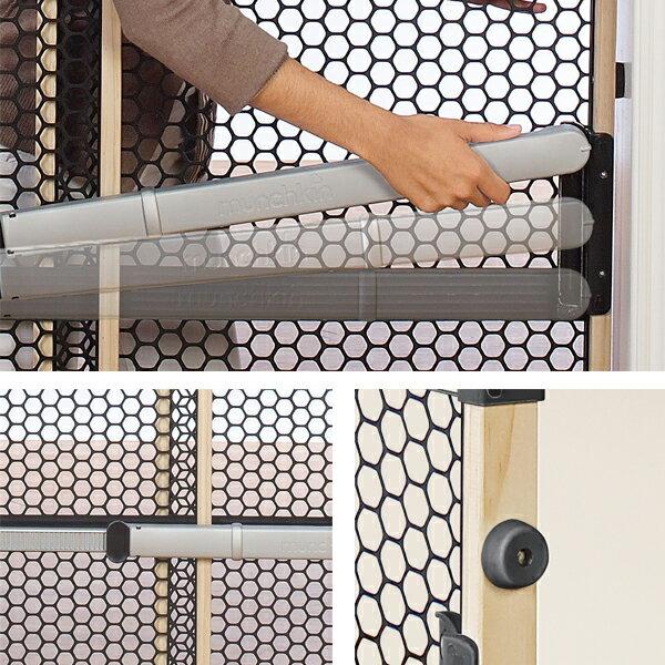 【楽天市場】マンチキン クイック インストール ゲート クイックゲート26インチ(66cm)ベビーフェンス ベビー