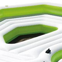 【在庫有り】【送料無料】浮き輪 インテックス キーラーゴ パーティー アイランド フロート 6人用 大型 ラウンジ フロート ドリンクホルダー 大人 うきわ エアー 56291CA Intex Inflatable Key Largo Party Island Float with Built-In Coolers & Cupholders
