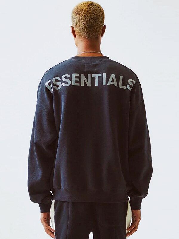 トップス, スウェット・トレーナー Fear of God essentials FOG ESSENTIALS REFLECTIVE 3M CREW Sweatshirt 3M-CREW-SWEAT-B
