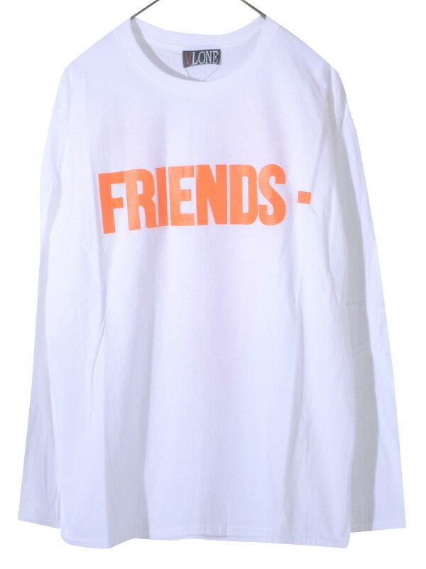 トップス, Tシャツ・カットソー VLONE T FRIENDS LONG SLEEVE SHIRT AAP Mob ASAP BARI Ian Connor Kanye West FRIENDS-LST