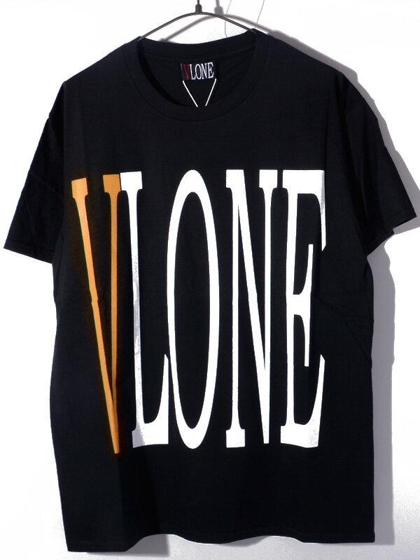 トップス, Tシャツ・カットソー VLONE T STAPLE T-SHIRT SS TEE BLACKORANGE AAP Mob ASAP BARI Ian Connor Kanye West STAPLE-SST-BO