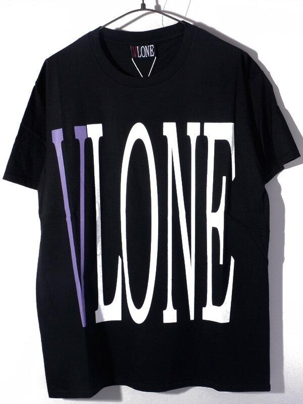 トップス, Tシャツ・カットソー VLONE T STAPLE T-SHIRT SS TEE BLACKPURPLE AAP Mob ASAP BARI Ian Connor Kanye West STAPLE-SST-BP