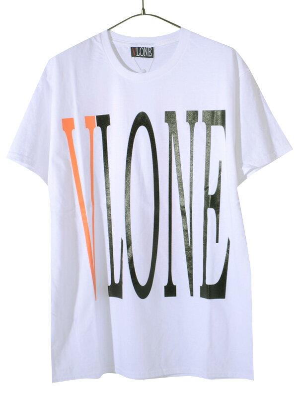 トップス, Tシャツ・カットソー VLONE T STAPLE T-SHIRT SS TEE WHITEORANGE AAP Mob ASAP BARI Ian Connor Kanye West STAPLE-SST-WO