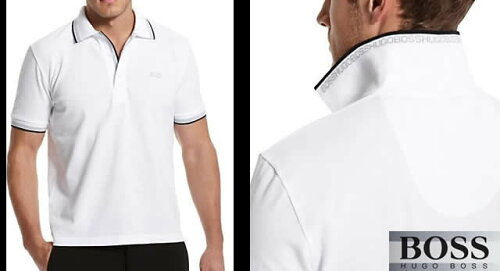 ヒューゴボス半袖ポロシャツ50198254ホワイト