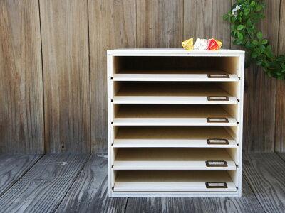 スライド板が便利*白◇スライドボード◇木製書類ケース◇A4サイズ対応