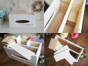 白 お洒落 ティッシュケース リモコンラック 木製 収納 卓上 小物入れ ペンスタンド ホワイト 木箱 プレゼント 3