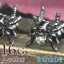 ボディピアス 16G スカルスパイダージュエル ストレートバーベル(1個売り)◆選べる福袋対象◆◆オマケ革命◆