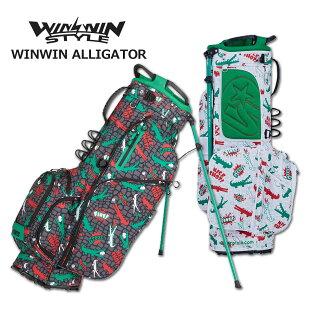 ウィンウィンスタイル キャディバッグ スタンド式 メンズ レディース 黒 白 cb-941cb-942【 あす楽 送料無料 】 [ WINWIN STYLE ゴルフ 9インチ 4分割 WINWIN ALLIGATOR新作 GOLF レア プレゼント ウィンウィン おしゃれ 限定 キャディーバッグ 軽量 かっこいい 母の日 ]の画像