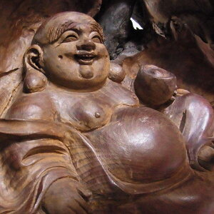Ткань для резьбы по дереву № 1 со стеклянным футляром Статуэтка скульптура Shichifukujin [Ryusho]