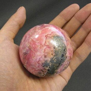 インカローズ(ロードクロサイト)球直径5.6cm/アルゼンチン産/天然石/パワーストーン