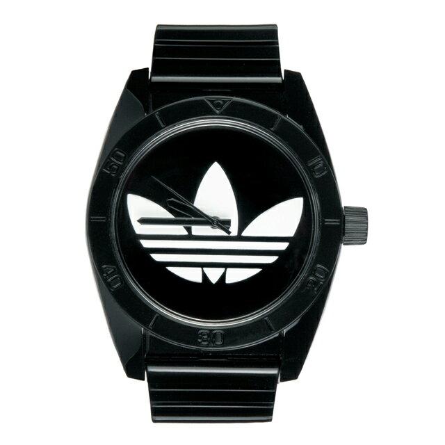 アディダス adidas サンティアゴ ADH2653 Santiago メンズ レディース ユニセックス クオーツ式 腕時計 ブラック アナログ 時計 ブランド 安い スポーツ おしゃれ 20代 30代 40代 シンプル 生活防水 文字盤大きめ 男女兼用 プレゼント ギフト ホワイトデー クリスマス