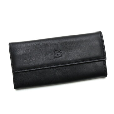 イルビゾンテ IL BISONTE 財布 メンズ ロングウォレット C0918 シンプル レザーフラップ 長財布 本革 レディース 153 ブラック ブランド 新品 未使用