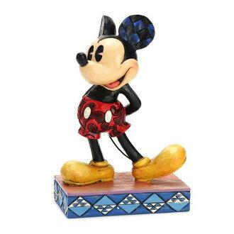 Enesco enesco。 迪士尼傳統迪士尼傳統經典米老鼠經典米奇老鼠木頭風格圖米老鼠禮物寶貝男孩女孩玩具生日 1 年 2 年 3 年 4 年 5 年 6 年男性和女性入口方位祝我寶貝