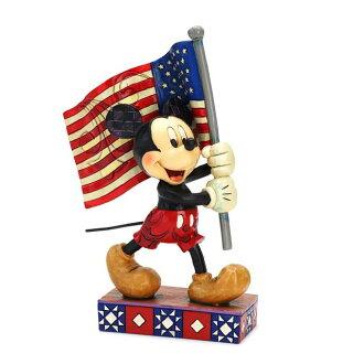 Enesco enesco。 米老鼠米奇老鼠與國旗風格雕刻木圖米老鼠禮物嬰兒禮品與迪士尼傳統迪士尼傳統國旗男孩女孩玩具生日 1 年 2 年 3 年 4 年 5 年 6 年男性和女性入口方位祝我寶貝