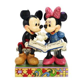 Enesco enesco。 迪士尼傳統迪士尼傳統滑鼠 & 美妮-米老鼠 85 周年米奇 & 米妮 85 的日子...... 雕刻的木頭風格圖米奇米妮老鼠禮物嬰兒男孩女孩玩具生日 2 年 3 年 4 年 5 年 6 年歲男人和女人