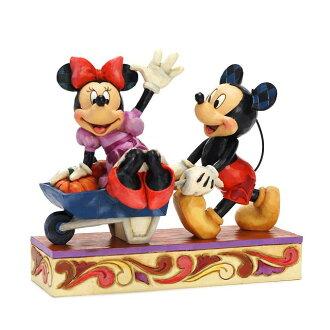 Enesco enesco。 迪士尼傳統迪士尼傳統收穫慶祝米老鼠和米妮老鼠收穫米奇 & 米妮木頭風格圖米奇米妮老鼠禮物寶貝男孩女孩玩具生日 2 年 3 年 4 年 5 年 6 年歲男子和婦女