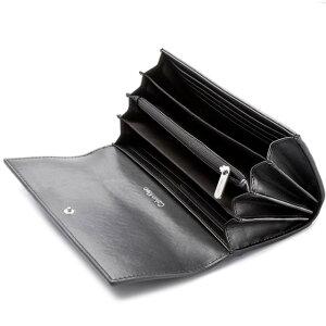 d184ee20f1b5 ... カルバンクラインCalvinKleinCK二つ折り長財布メンズレディースブラック黒長財布財布使いやすい ...