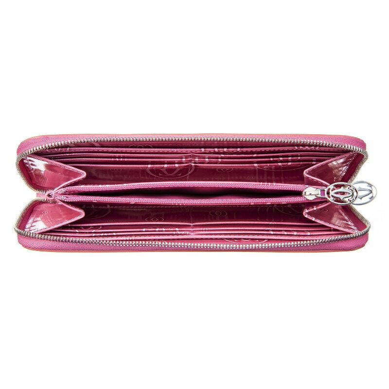 Cartier(カルティエ)『ハッピーバースデイスモールレザーグッズ、ジップ付インターナショナルウォレット(L3001255)』