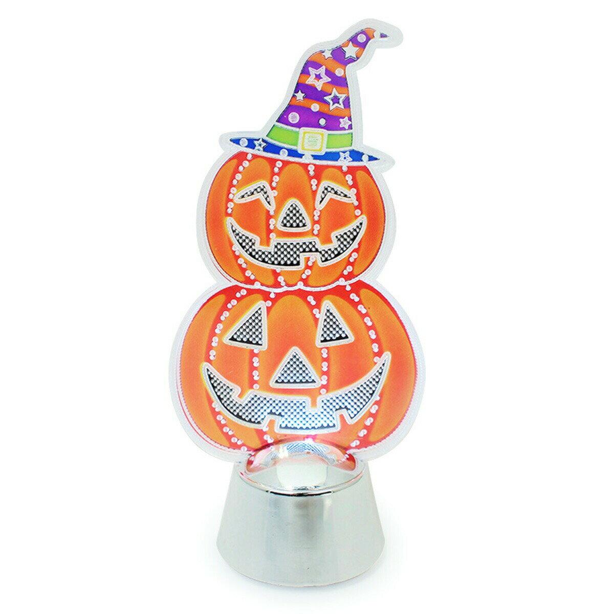 GTS フラッシングライト HTN105 パンプキン ハロウィン かぼちゃ おばけ 卓上ライト オレンジ 室内用 インテリア 雑貨 置物 パーティ オーナメント 装飾品 飾り 小物 10月31日