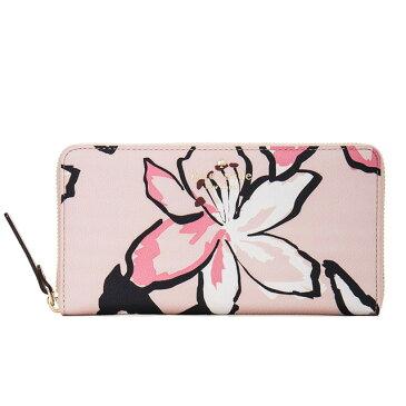 ケイト・スペード kate spade new york 長財布 hawthorne lane floral lacey ラウンドファスナー長財布 花柄 ボタニカル ピンク ksp-pwru5005-674