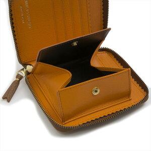 1b742ad98dcc ... コムデギャルソンCOMMEdesGARCONS財布SA2100ICCOLOURINSIDEカラーインサイドラウンドファスナー二つ折り財布BROWN/ORANGEブラウン+  ...