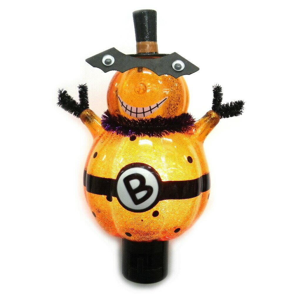 GTS ナイトライト パンプキンマスク GTS702-H300 ハロウィン かぼちゃ フットライト 足元灯 飾り オーナメント 置物 かぼちゃ 玄関 リビング 寝室 イルミネーションライト 室内用 プレゼント ギフト 新品