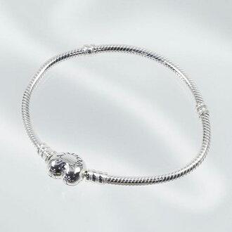 潘朵拉潘朵拉手鏈配件贈品手鐲婦女時刻手鐲心銀 590719-17