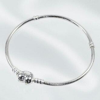 潘朵拉潘朵拉手鏈配件手鐲女士銀心時刻手鐲心珠寶 590719-19
