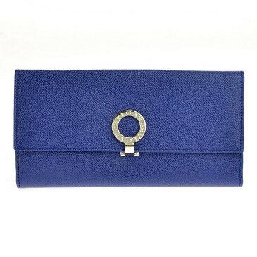ブルガリ BVLGARI 財布 長財布 二つ折り長財布 36316 ブルガリブルガリ ロゴクリップ BLUE DAHLIA ブルー
