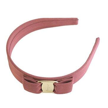 サルバトーレ フェラガモ Salvatore Ferragamo カチューシャ ヘアバンド 344311 698123 P.TA VARA CL ヴァラリボン WINTER ROSE ピンク系