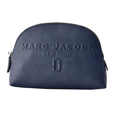 マークジェイコブス Marc Jacobs ポーチ 化粧ポーチ マルチケース M0013651-415 Logo Shopper Dome Cosmetic ロング ショッパー ドーム コスメティック Midnight Blue ブルー