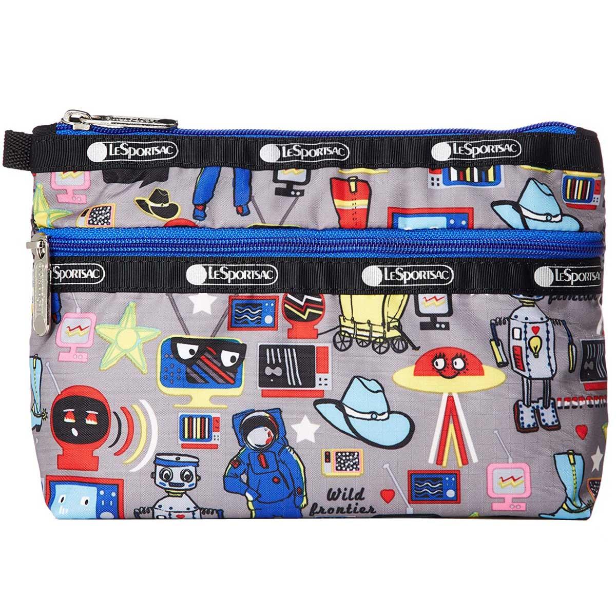 レスポートサック 7105 E292 COSMETIC CLUTCH ポーチ BUCKAROO グレー系マルチカラー 化粧ポーチ マルチポーチ トラベル ギフト 新品
