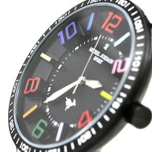ミッシェルジョルダンスポーツmichelJurdainSPORT腕時計天然ダイヤモンド入りシリコンベルトメンズウォッチブラック×ホワイト×ブラック送料無料