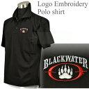 ロゴ入り ポロシャツ ブラック ブラックウォーター タイプ