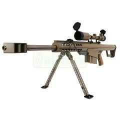 SNOW WOLF バレットM82 CQB FDEカラー 【対物ライフル】 電動フルメタル スコープ&バイポット...