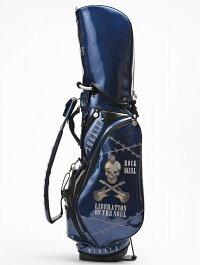 SHERIFFシェリフスカルシリーズゴルフ高級エナメルスタンド式キャディバッグ9.0型SFS-005Blue/Black