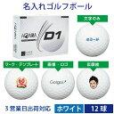【3営業日出荷対応 オウンネーム 名入れゴルフボール】本間ゴルフ/HONMA D1 2020年モデル ホワイト 1ダース(12球) スピード納品 名前入りギフト