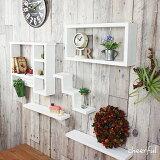 シェルフ 壁面 棚 ウォールシェルフ 白 ウォールラック 壁掛け ホワイト 飾り棚 5点セット (福袋 ナチュラル雑貨 壁付け 棚 賃貸 壁)