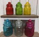 ナチュラル雑貨◆ガラスジャー ピーナッツ◆キャニスター ガラス かわいい超お買い得◆SALE セ...