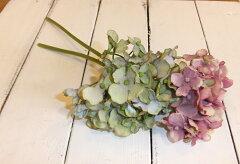 アジサイ 紫陽花 2種◆ナチュラルフラワー 造花 イミテーションフラワー