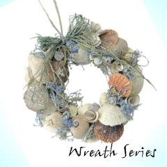 【ナチュラル雑貨】貝殻 リース 24cm ブルー (ナチュラル雑貨 ナチュラル 雑貨 貝 リー…